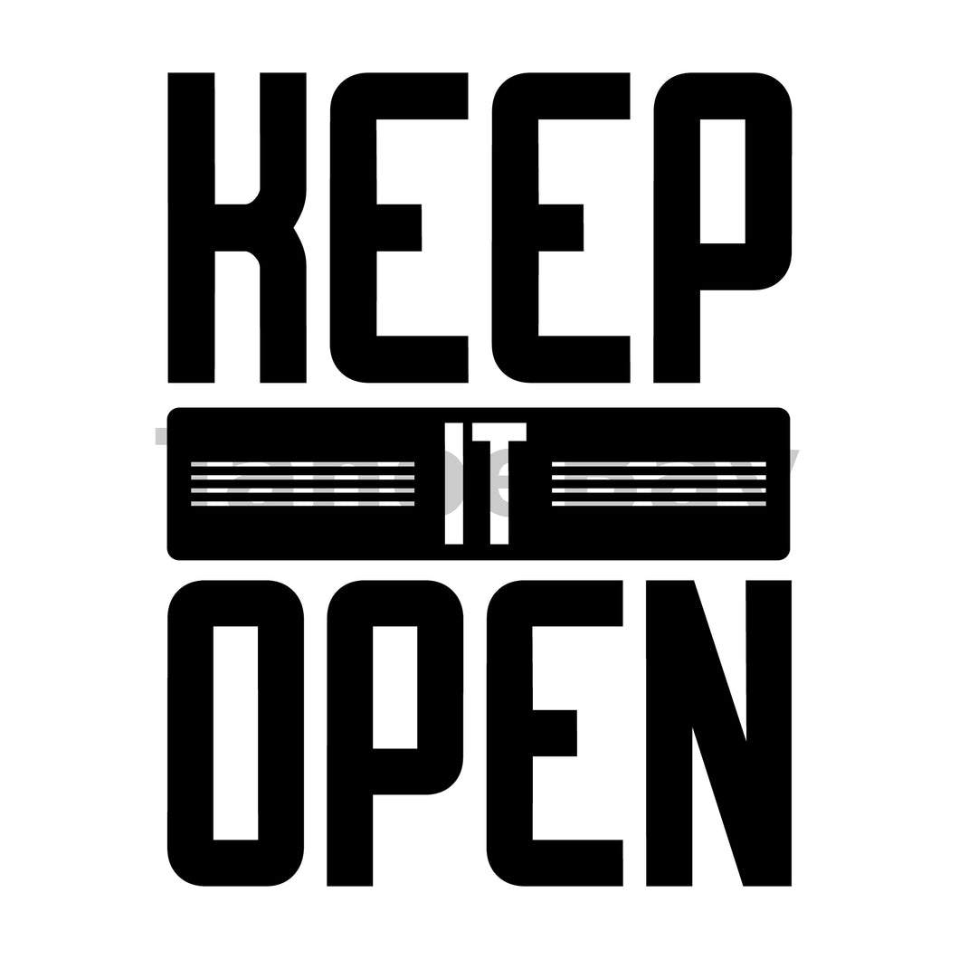 Keep It Open Can Cooler Graphic Design Files | SVG PNG