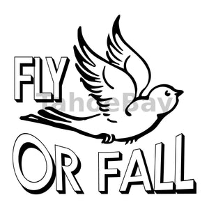 Fly Or Fall Can Cooler Graphic Design Files | SVG PNG
