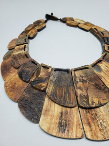 Haitian Statement Necklace (horn)