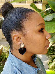 Lot's of Love Earrings (Horn)