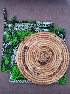 Rwandan Pot Holders & Hot Plate