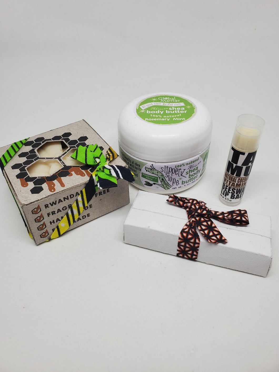 Cocoa Besswax and Rosemary Mint Shea Set