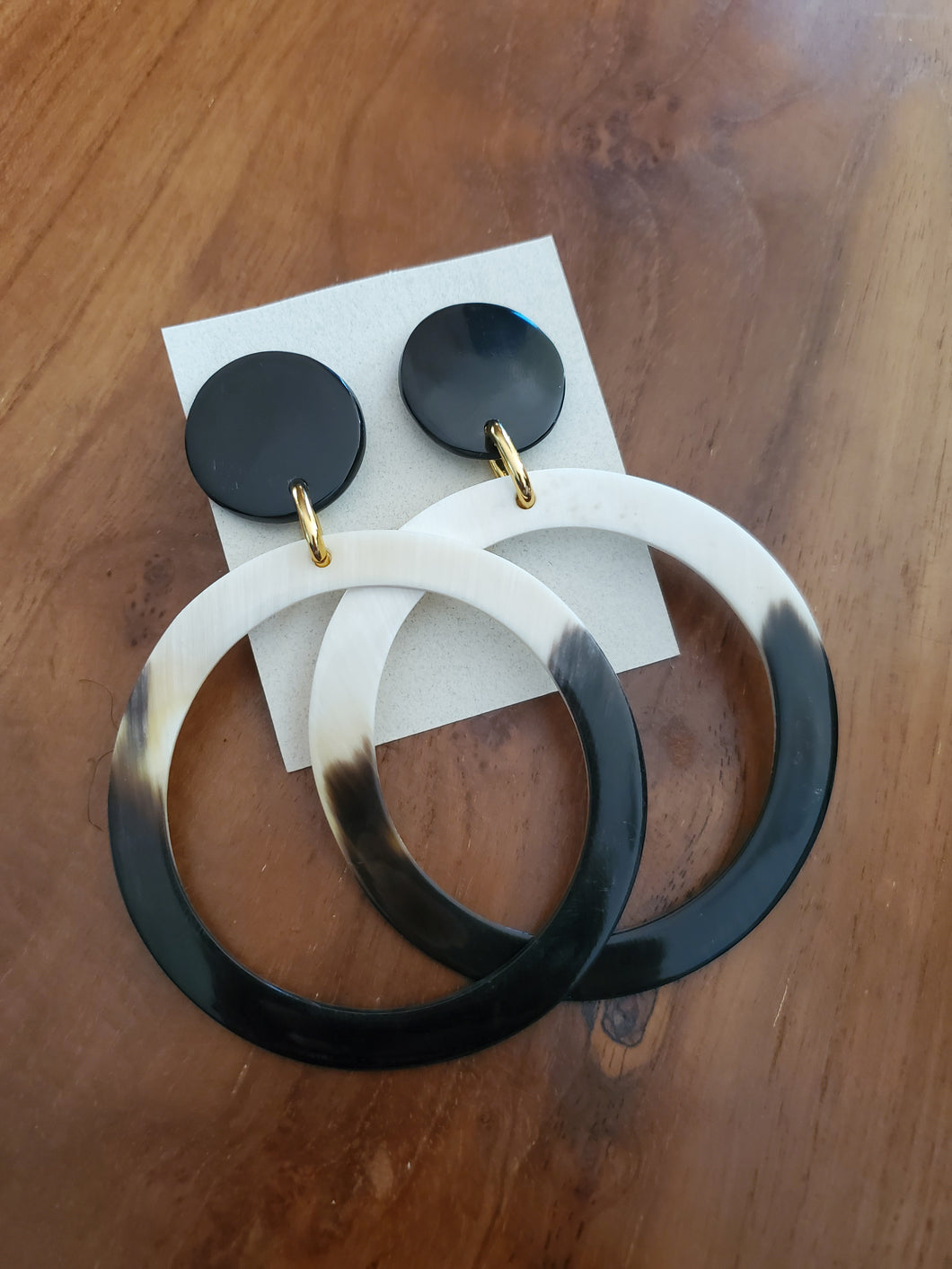 Creole Statement Earring (horn)
