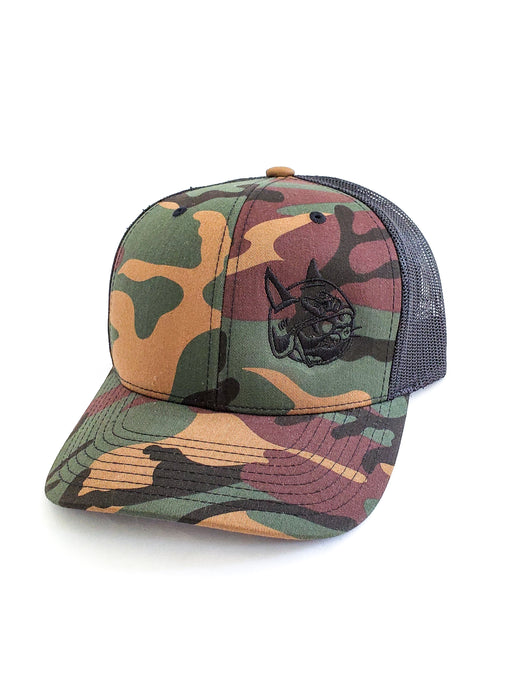 Classic Battle Cat Hat - God's Plaid (Woodland Camo)