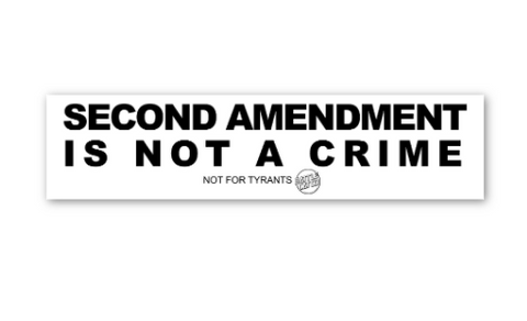 Second Amendment Is Not a Crime - Sticker
