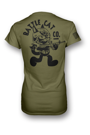 Tactical Battle Cat V-Neck Women's cut- OD Green