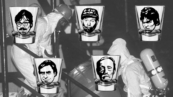 True Crime Serial Killer Five (5) Shot Glass Set Ted Bundy Albert Fish Ed Gein Edmund Ed Kemper Richard Ramirez Free Shipping Merch Massacre