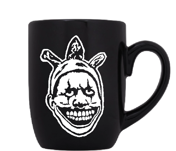 Twisty the Clown Mug Coffee Cup Black Freakshow Killer Slasher Evil Scary Creepy True Crime Serial Killer Horror Merch Massacre Free Shipping