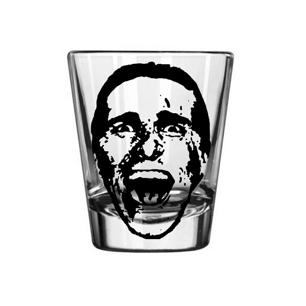 American Psycho Shot Glass Patrick Bateman Killer Slasher Murders Executions Eighties Horror Funny Halloween Nerd Geek Free Shipping Merch Massacre