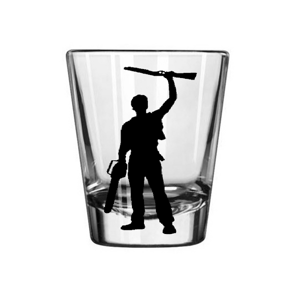 Evil Dead Shot Glass Ashy Slashy  Army Darkness Ash Boomstick Horror Free Shipping Merch Massacre