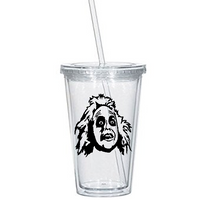 Beetlejuice Tumbler Cup Ghost Most Strange and Unusual Supernatural Horror Free Shipping Merch Massacre