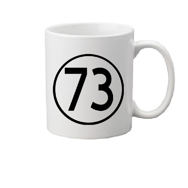 Big Bang Mug Coffee Cup White 73 Perfect Prime Number Retro Nerdy Geeky Nerd Geek Funny LOL Free Shipping Merch Massacre