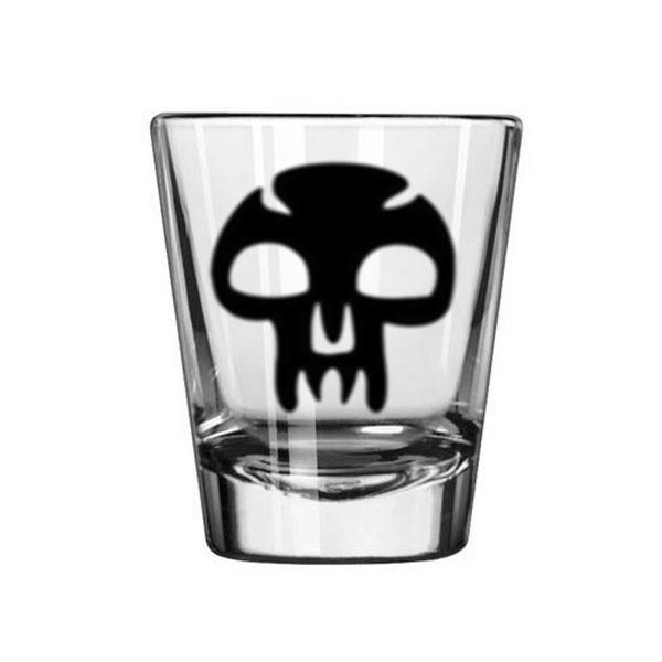 Gamer Magic Black Mana Shot Glass Gaming Tabletop Role Playing Game Card Fantasy Dragons Dungeons Nerd Geek Halloween Free Shipping Merch Massacre