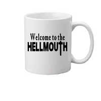 Buffy the Vampire Slayer Mug Coffee Cup White Welcome to Hellmouth Sunnydale Willow Xander Giles Spike Angel Halloween Free Shipping Merch Massacre