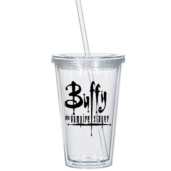 Buffy the Vampire Slayer Tumbler Cup Willow Xander Giles Spike Angel Hellmouth Sunnydale Hush Horror Nerd Halloween Free Shipping Merch Massacre