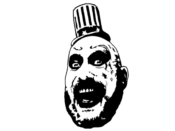 Devils Rejects Captain Spaulding Vinyl Decal Sticker House of 1000 Corpses 3 from Hell Otis Baby Firefly Horror Free Shipping Merch Massacre
