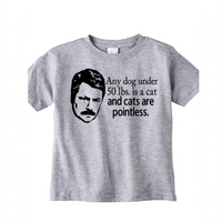 Parks and Rec Cats Pointless T Shirt Kids Youth Toddler Clothing 2T-Youth XL Ron Swanson Merch Massacre Free Shipping