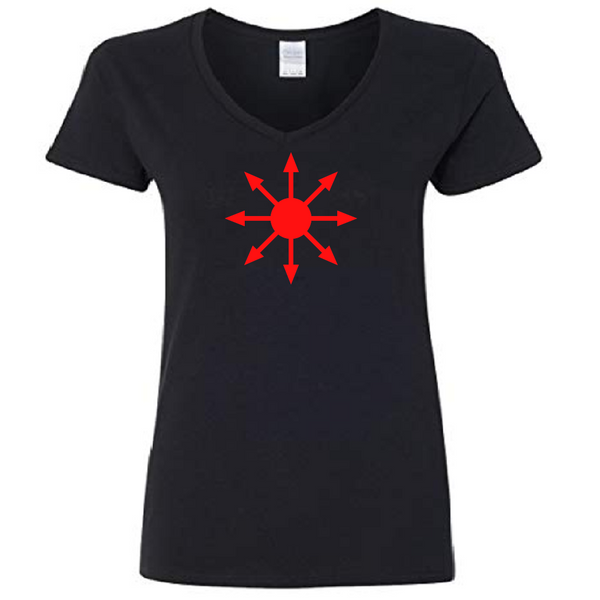 Chaos Magick Ladies V Neck T Shirt Adult S-3X Success Magic Witch Witches Witchcraft Wicca Wiccan Pentagram Horror Free Shipping Merch Massacre
