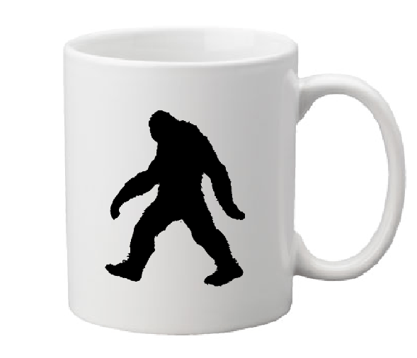 Paranormal Mug Coffee Cup White Bigfoot Sasquatch Believe Crytpid Cryptozoology Loch Ness Monster UFO Horror Halloween Free Shipping Merch Massacre