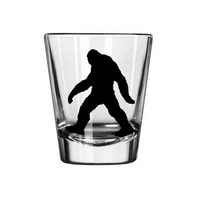 Paranormal Shot Glass Bigfoot Sasquatch Yeti Loch Ness Monster UFO Ghost Supernatural Cryptid Cryptozoology Halloween Free Shipping Merch Massacre