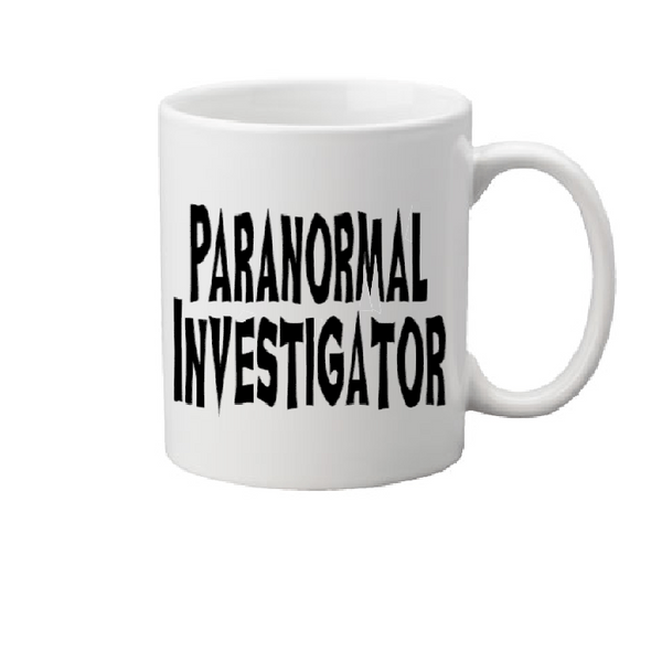 Paranormal Mug Coffee Cup White Investigator Believe Crytpid Cryptozoology Ghost Loch Ness Bigfoot UFO Horror Halloween Free Shipping Merch Massacre