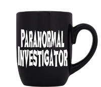 Paranormal Mug Coffee Cup Black Investigator Ghost Hunter Cryptid Supernatural Spirit Bigfoot Loch Ness UFO Crypto Sci Fi Free Shipping Merch Massacre