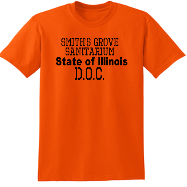 Halloween T Shirt Adult Clothes S-5X Smith's Grove Sanitarium Michael Myers State Illinois D.O.C. Slasher Horror Unisex Free Shipping Merch Massacre