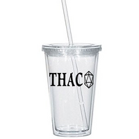 Gamer Dungeons and Dragons Tumbler Cup THAC0 D&D d20 RPG Tabletop Nerd Free Shipping Merch Massacre