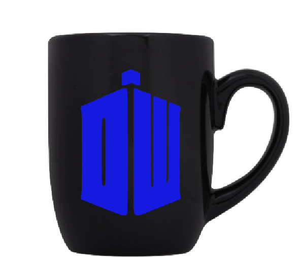 Doctor Who Mug Coffee Cup Black TARDIS Dalek Dr. Timelord BBC Sci Fi Horror Free Shipping Merch Massacre