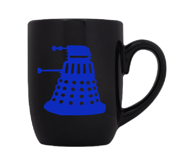 Doctor Who Mug Coffee Cup Black Dalek TARDIS Dr. Timelord BBC Sci Fi Horror Free Shipping Merch Massacre