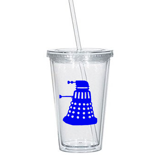 Doctor Who Tumbler Cup Dalek TARDIS Call the Dr. BBC British Sci Fi  Nerd Free Shipping Merch Massacre