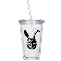 Donnie Darko Tumbler Cup Frank the Rabbit Horror Sci Fi Science Fiction Time Travel Dark Comedy Funny Nerd Geek Halloween Free Shipping Merch Massacre