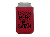 Drink Beer Hail Satan Devil Can Cooler Sleeve Bottle Holder Witchcraft Free Shipping Merch Massacre