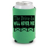 Last Drive In Never Die Can Cooler Sleeve Bottle Holder Monster Vision Joe Bob Free Shipping Merch Massacre
