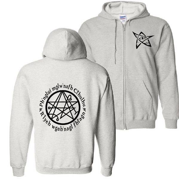 Lovecraft Zip Up Hoodie Sweatshirt Unisex S-5X Adult Call of Cthulhu Fhtagn Elder Sign Necronomicon Miskatonic Horror Free Shipping Merch Massacre