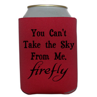 Firefly Can Cooler Sleeve Bottle Holder Take the Sky Serenity Free Shipping Merch Massacre