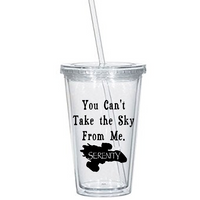 Firefly Tumbler Cup Serenity You Can't Take the Sky From Me Song Sci Fi Science Fiction Western Comedy Funny Halloween Free Shipping Merch Massacre