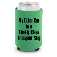 Firefly Ship Can Cooler Sleeve Bottle Holder Serenity Free Shipping Merch Massacre