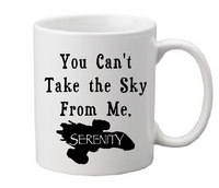 Firefly Mug Coffee Cup White You Can't Take The Sky From Me Serenity Transport Ship Sci Fi Science Fiction Western Free Shipping Merch Massacre