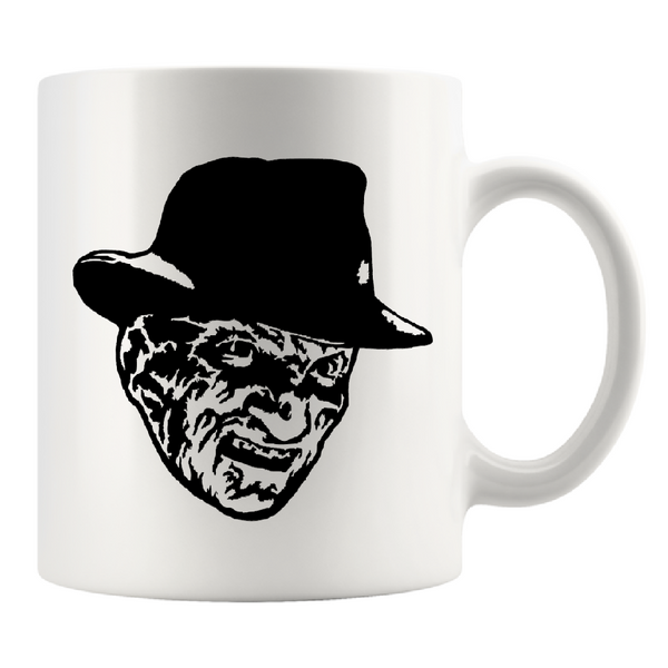 Nightmare on Elm Street Mug Coffee Cup White Freddy Krueger Slasher Killer Horror Halloween Free Shipping Merch Massacre