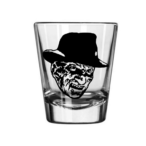Nightmare on Elm Street Shot Glass Freddy Krueger Slasher Serial Killer Horror Halloween Free Shipping Merch Massacre