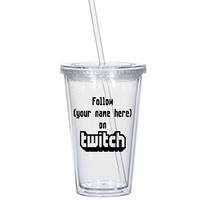 Gamer Twitch Tumbler Cup Custom Follow Streamer Streaming Gift Gaming Video Games Retro Game Sci Fi Nerd Geek Halloween Free Shipping Merch Massacre