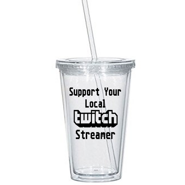 Gamer Twitch Tumbler Cup Support Local Streamer Streaming Gift Gaming Video Games Retro Game Sci Fi Nerd Geek Halloween Free Shipping Merch Massacre