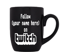 Gamer Twitch Mug Coffee Cup Black Follow Subscribe Support Video Game Gaming Streamer Streaming Free Shipping Merch Massacre
