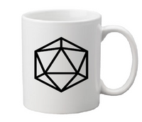 Gamer Dungeons and Dragons Mug Coffee Cup White d20 D&D THAC0 RPG Role Playing Game Fantasy Tabletop Gaming Nerd Geek Free Shipping Merch Massacre