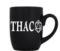Gamer Dungeons and Dragons Mug Coffee Cup Black THAC0 D&D d20 RPG Tabletop Nerd Free Shipping Merch Massacre