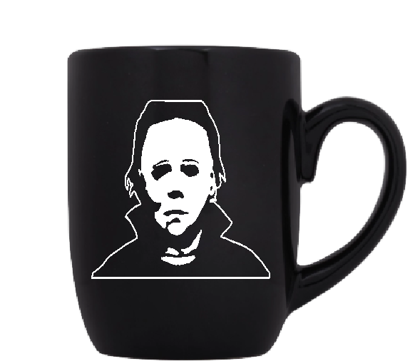 Halloween Mug Coffee Cup Black Michael Myers Slasher Killer Serial Killer Haddonfield Baby Sitter Scary Creepy Horror Free Shipping Merch Massacre