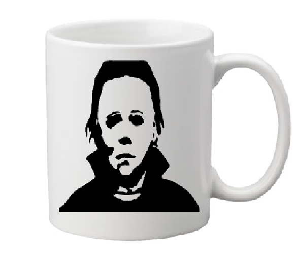 Halloween Mug Coffee Cup White Michael Myers Slasher Babysitter Murders Haddonfield IL Serial Killer Psycho Free Shipping Merch Massacre