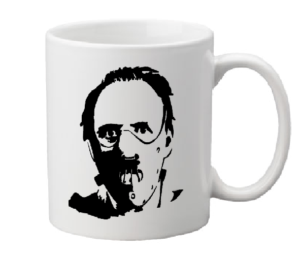 Hannibal Lecter Mug Coffee Cup White Silence Lambs Manhunter Red Dragon Cannibal Doctor Dr. Psycho Horror Halloween Free Shipping Merch Massacre