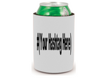 Hashtag Handle Custom Can Cooler Sleeve Bottle Holder Video Gamer Streamer Horror Free Shipping Merch Massacre